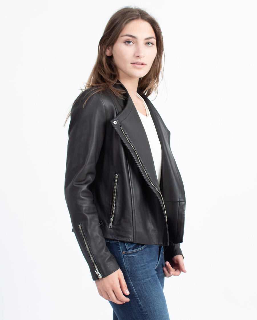 """Phelan R"" Black Leather Jacket"