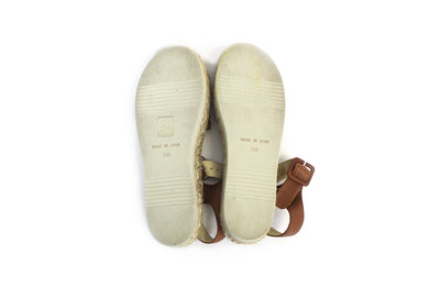 Tan Leather Espadrille Sandals