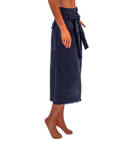 Cropped Wide Leg Culotte
