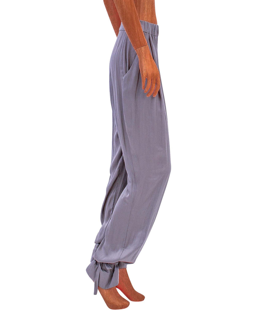 High Rise Pant with Ankle Tie