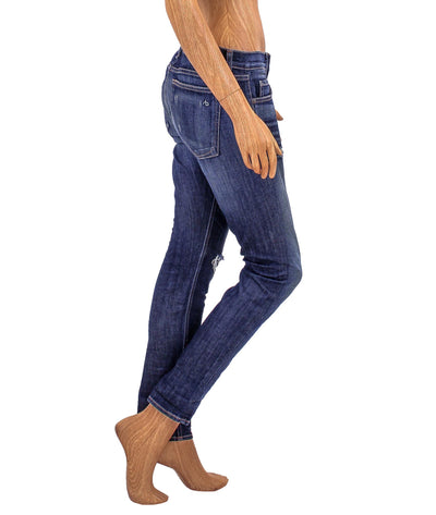 Low-Rise Slim Boyfriend Jeans