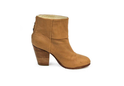 Newbury Tan Leather Ankle Boots