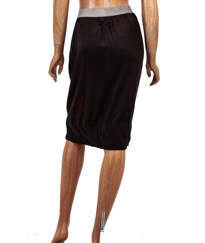 Silk Knee Length Skirt