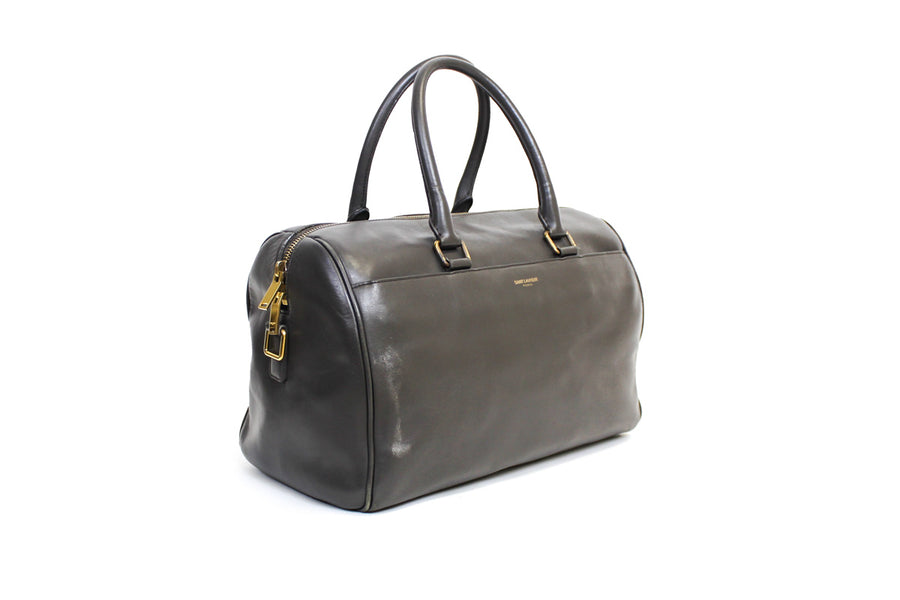 Calfskin Classic Leather Duffle 6 in Grey