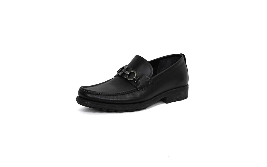 Leather Gancini-Bit Loafers