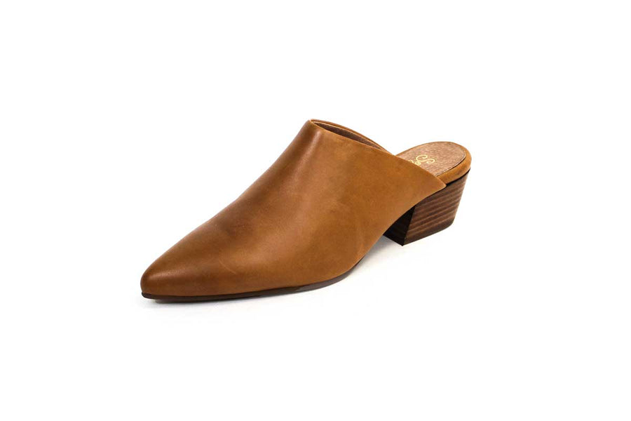 Tan Leather Mules