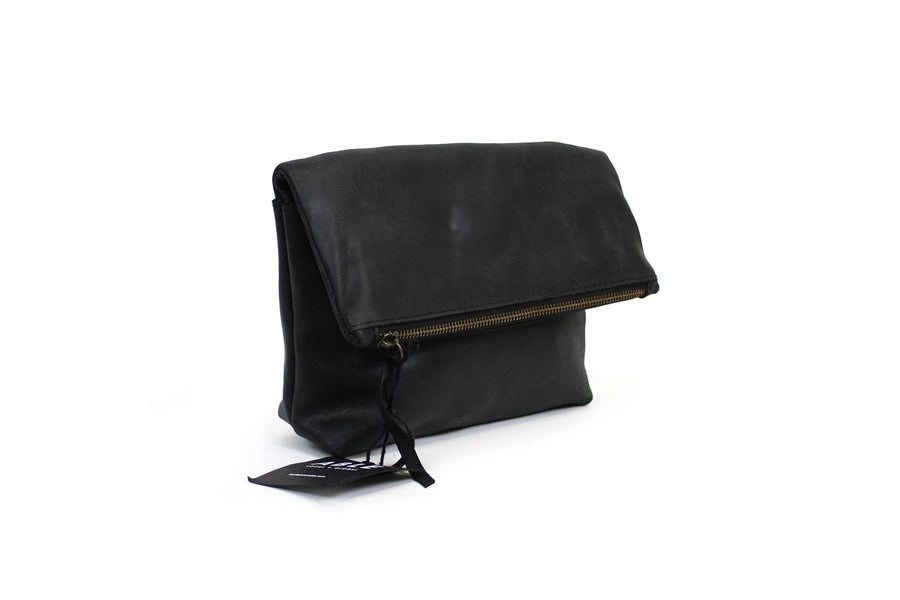 """Emnet Foldover"" Clutch with Crossbody Strap"
