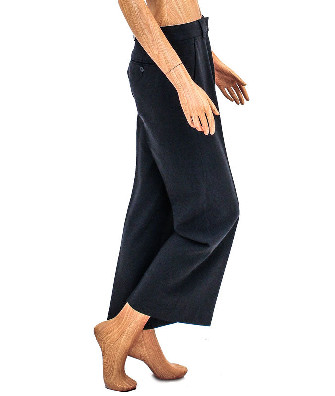 Mid-Rise Wide Leg Trousers