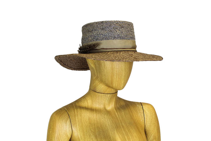 Floppy Brim Flat Top Straw Hat
