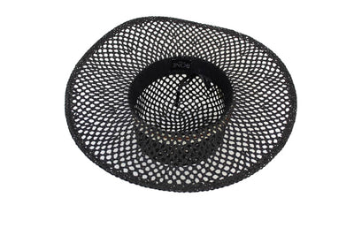 Perforated Floppy Brim Straw Hat
