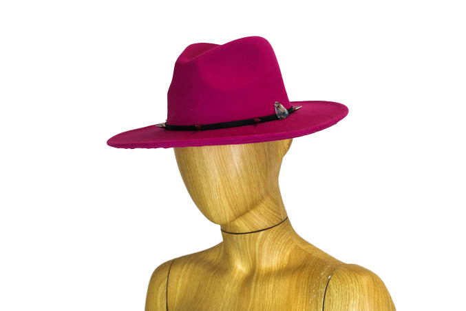 Hot Pink Wide Brim Hat