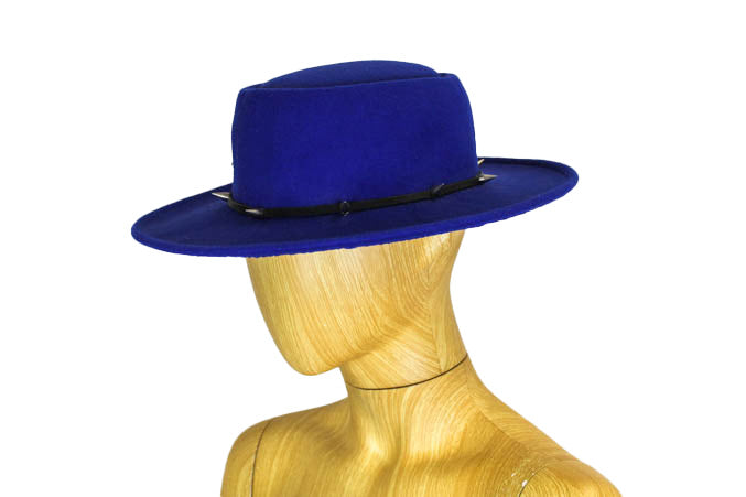Blue Wide Brim Hat