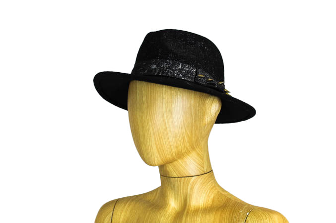 Splattered Wool Fedora