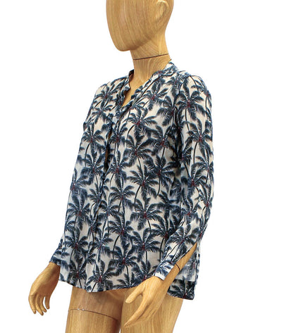Printed Henley Top