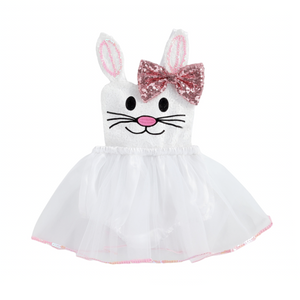 PREORDER Happy Bunny Baby Dress