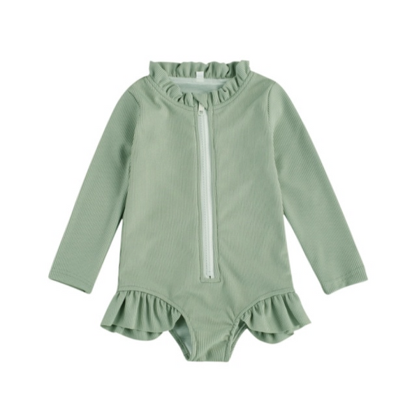 PREORDER Ribbed Ruffles Baby Swimsuits