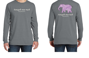 Pewter Vintage/Paisley Elephant- Long Sleeve Fall Shirt