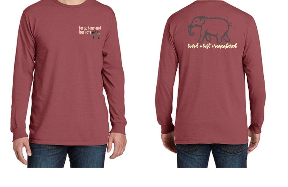 Red Rock/loved...lost...remembered - LONG Sleeve Fall Shirt