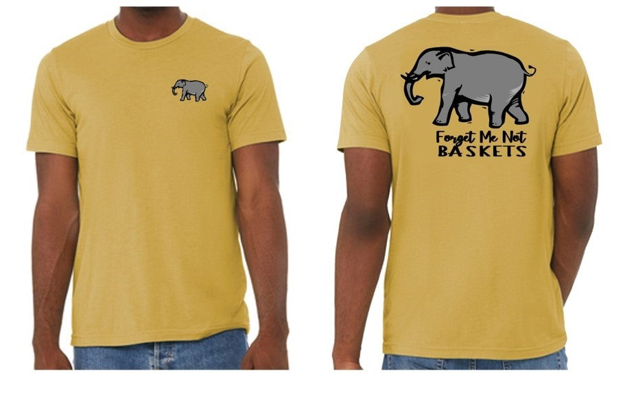 Mustard/ Elephant-Short Sleeve Fall Shirt