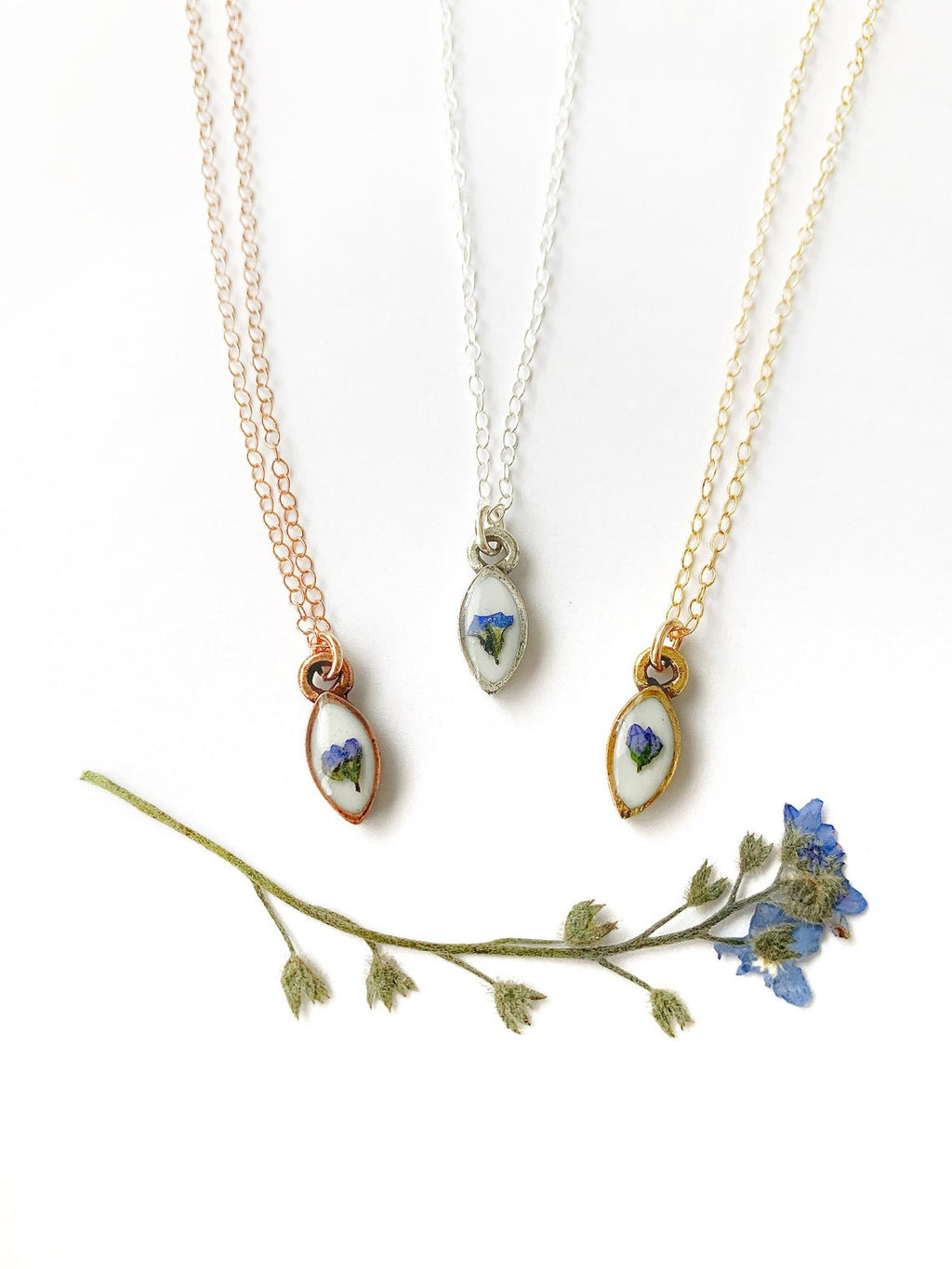 Dainty Forget-Me-Not Necklace