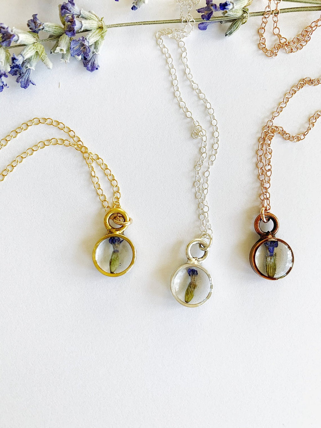 Dainty Lavender Bud Necklace