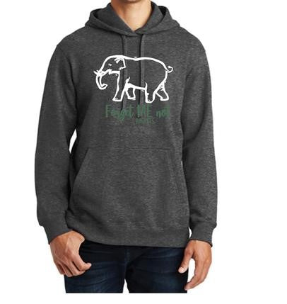 Dark Gray Forget-Me-Not - Fall Hoodie