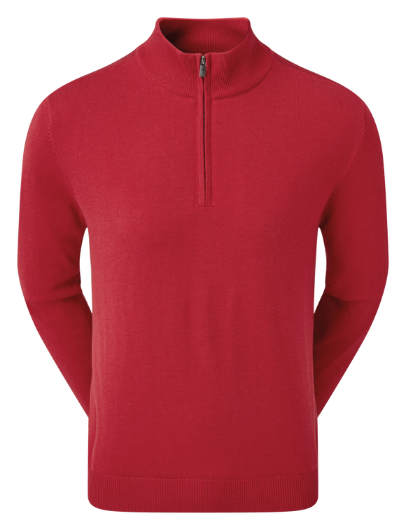Footjoy Wool Blend 1/2 Zip Lined Pullover