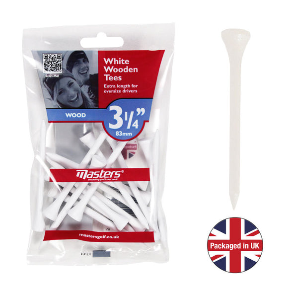 Masters White Wooden Golf Tees (2 Options)