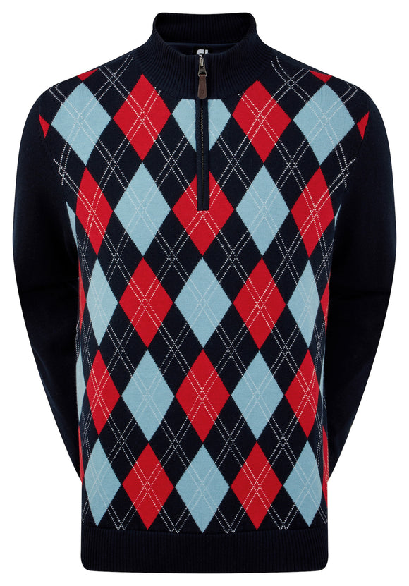 footjoy lined argyle pullover
