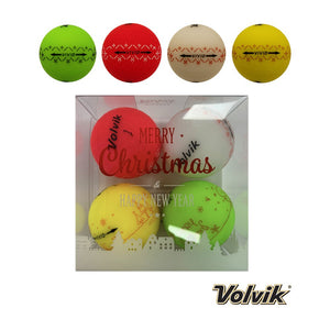 Volvik Vivid Christmas Golf Ball Pack (4 Balls)