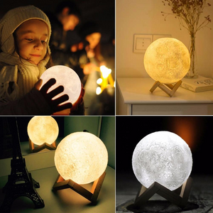 3D Simulation Moon Night Light