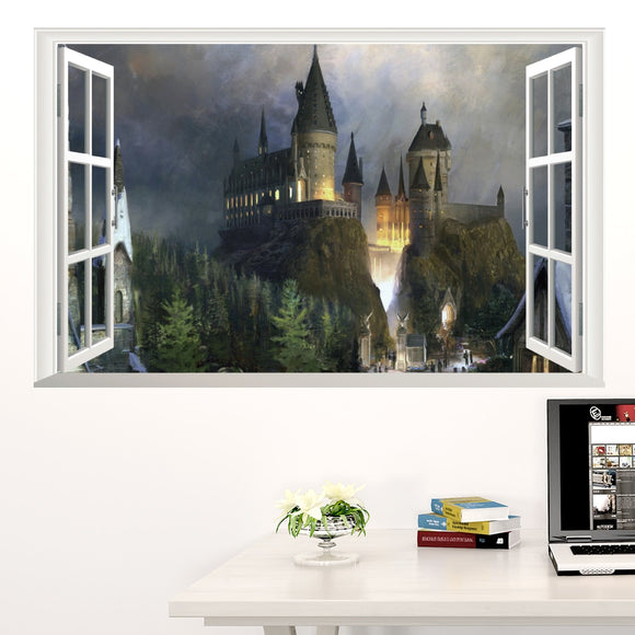 Harry Potter Hogwarts Magic School Castle 3D Wall Decal Sticker