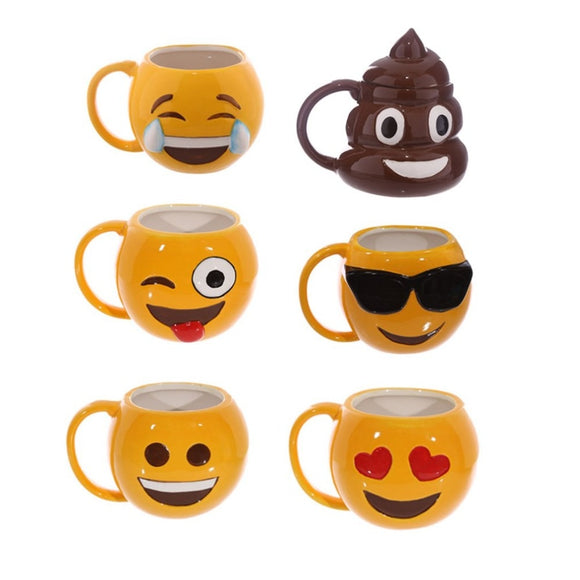 12oz Funny Emoji Ceramic Coffee Mugs