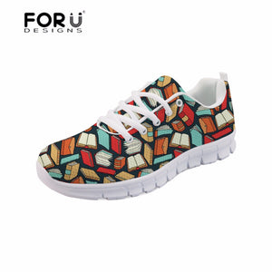 Book Lover Pattern Women Casual Shoes