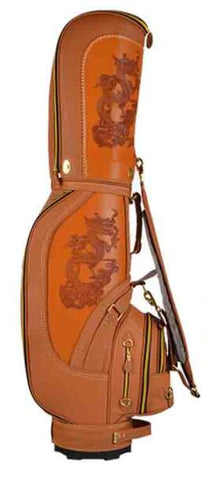 Leather Dragon Golf Club Bag