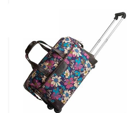 Travel Trolley bags Women wheeled Rolling bags