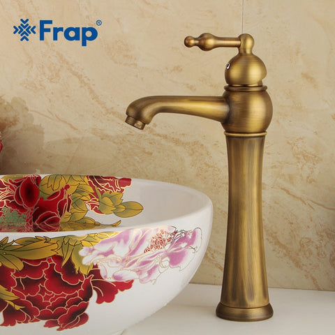 Brass Basin Faucet Retro Bathroom Basin