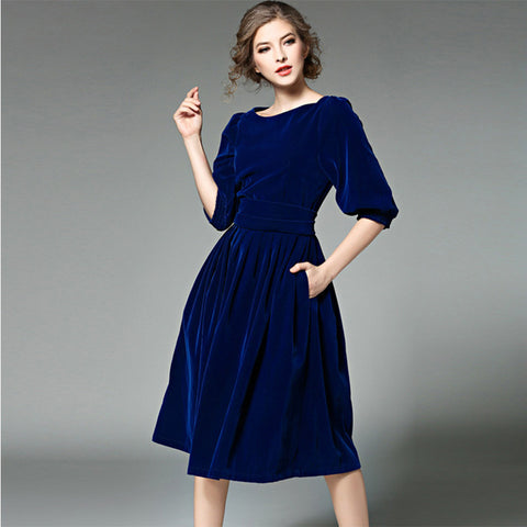 Women's Dresses Slash Collar