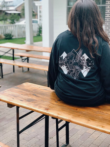 Flower Diamonds Black Long Sleeve