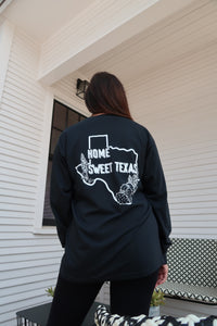 Home Sweet Texas black long sleeve