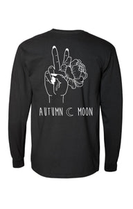 'Peace' black long sleeve