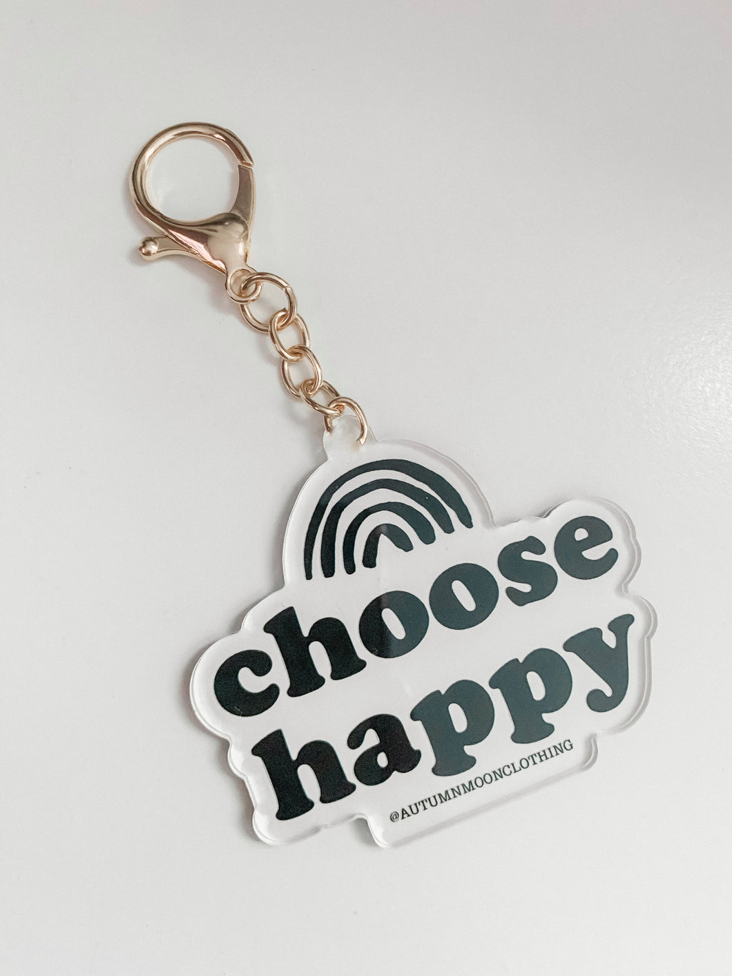 Choose Happy keychain