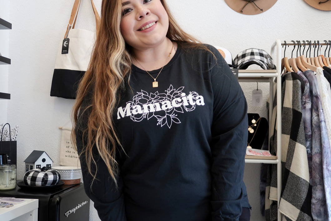 "Mamacita ""black"" long sleeve"