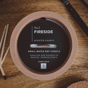 Fireside - Large Cement Candle