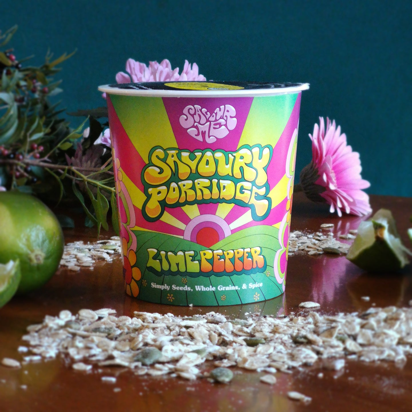 SavourMe Savoury Porridge: Vegan, super seed, all natural, high fibre Lime Pepper flavour. Ways to pimp your porridge. Healthy snacks. Food inspired by Mexico