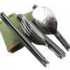 Folding Titanium Tableware Camping Cookware - the-travel-tools