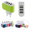 3 Port USB Charger Mobile Phone EU / US Plug Charger - the-travel-tools