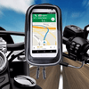 Motorcycle Handlebar Phone Holder: Waterproof Smartphone Pouch