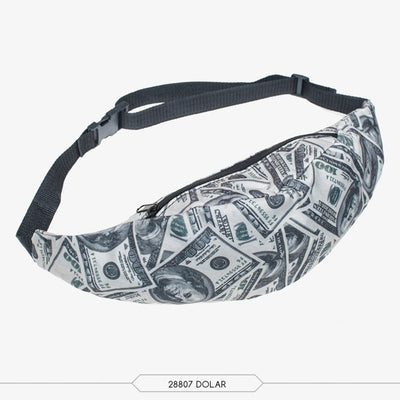 3D Colorful Print Hip Belt Bags Money Mobile Phone Bag Waist Packs - the-travel-tools