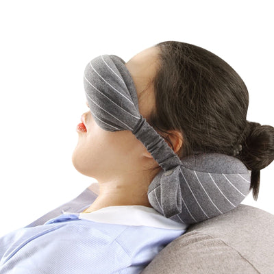 Soft Cotton U Shaped Travel Neck Rest Head Support - the-travel-tools